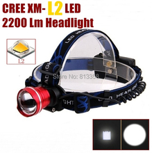 AloneFire HP87 Cree XM-L2 led Zoom cree Head light Headlamp for 1/2×18650 Rechargeable batteries