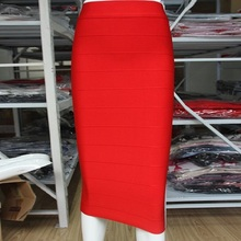 Top Quality 4 Colors Knee-Length Bandage Skirt Sexy Brand Club Party Bodycon Skirt