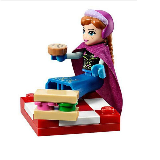 316pcs Color box Dream Princess Elsa Ice Castle Princess Anna Set Model Building Blocks Gifts Toys Compatible legoe Friends