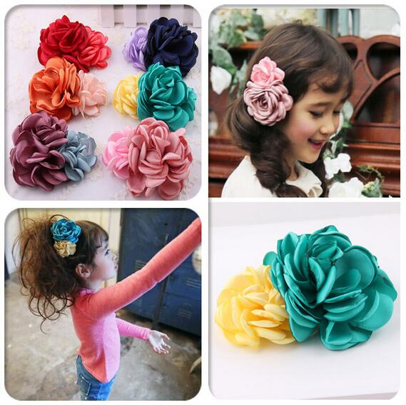 Shabby Flower Girl Kids Hairpin Hair Clip Bobby Pins Barrette Style Accessories For Head Hair Ornaments Hairgrip Hairclip Tiaras girl