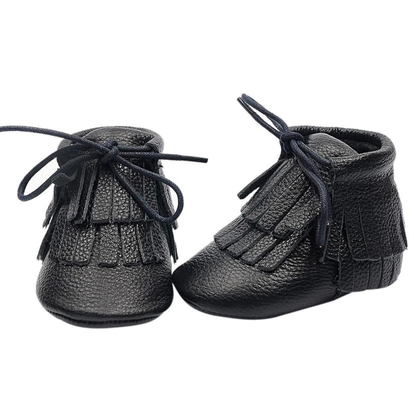 Baby Boy Girl First Walkers Toddler Infant Newborn Shoes Girls Lace-Up Brand Genine Leather fringe shoes 0-24M