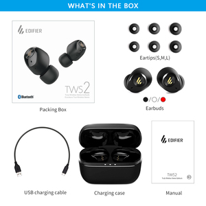 Image 5 - EDIFIER TWS2 TWS Earbuds Bluetooth V5.0 IPX4 up to 12 Hrs Play Time Multifunctional Control wireless earphones