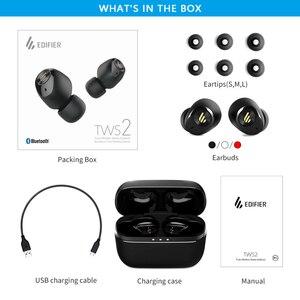 Image 5 - EDIFIER TWS2 słuchawki TWS Bluetooth V5.0 IPX4 do 12 godzin czas odtwarzania wielofunkcyjne sterowanie bezprzewodowe słuchawki