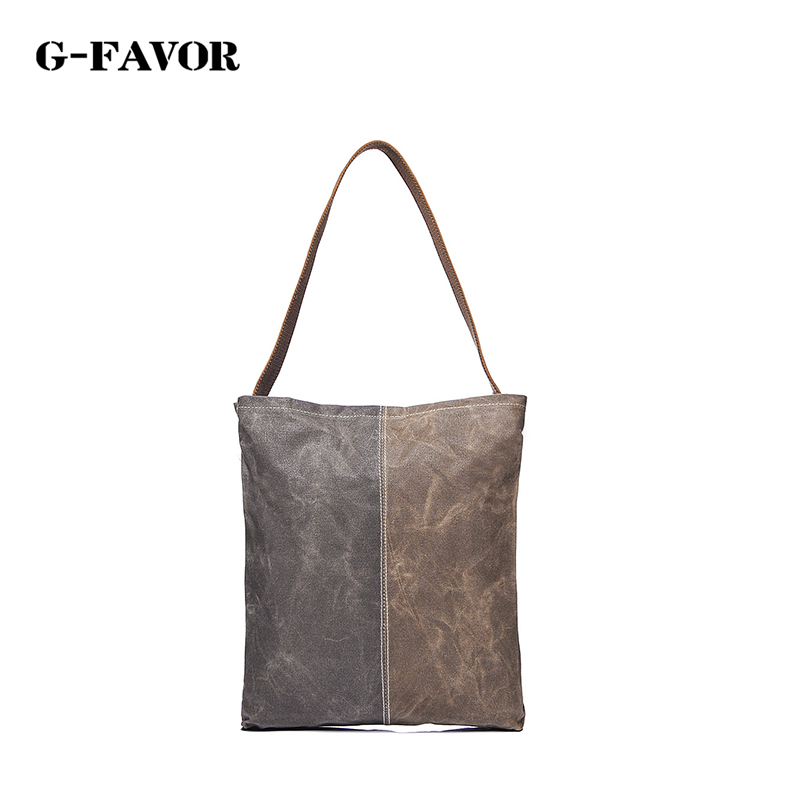 G-FAVOR Luxury Handbags Women Bags Designer Shoulder Bags Female Bag Women Canvas Bag Solid Handbag Bolsas Femininas sac a main 6es5 482 8ma13
