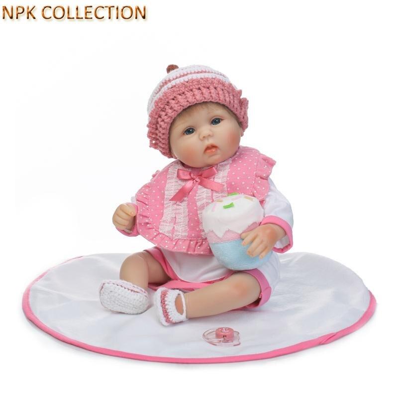NPKCOLLECTION 15 Inch Realistic Reborn Baby Dolls Kids Playmate Gifts for Girls Soft Body Bonecas Reborn Baby Alive Boneca Toys