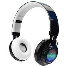 Super Bass Auriculares Inalámbricos Con Micrófono Plegable Luminoso Luces Deportes Estéreo Bluetooth Auriculares inalámbricos Con Radio FM Tarjeta TF
