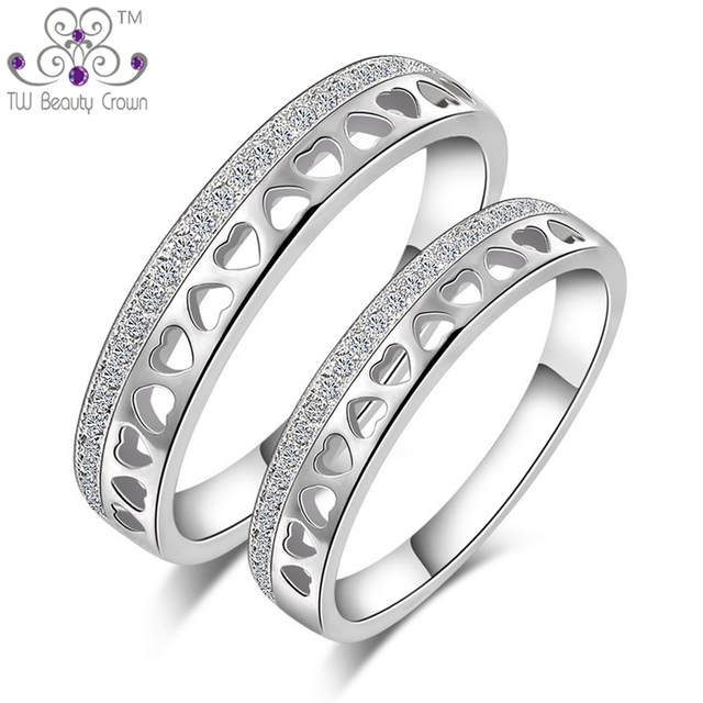 925 Sterling Silver Rings For Wedding Engagement Fashion Jewelry Valentine S Day Gift