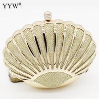 YYW 2019 新しいシェル形状のクラッチバッグ女性イブニングクラッチファッションミニ結婚式財布チェーンバッグショルダー財布ゴールド