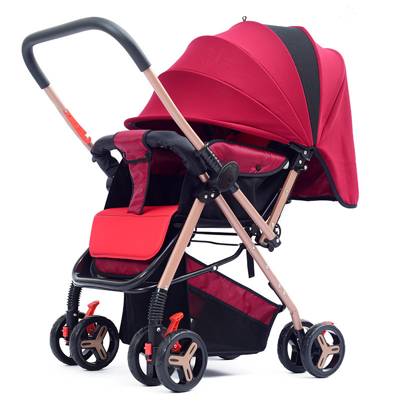 HUAYING Stroller Lightweight Folding Seats Can Reclining Baby Newborn Childrens Hand Umbrella Stroller Two-Way Baby Car