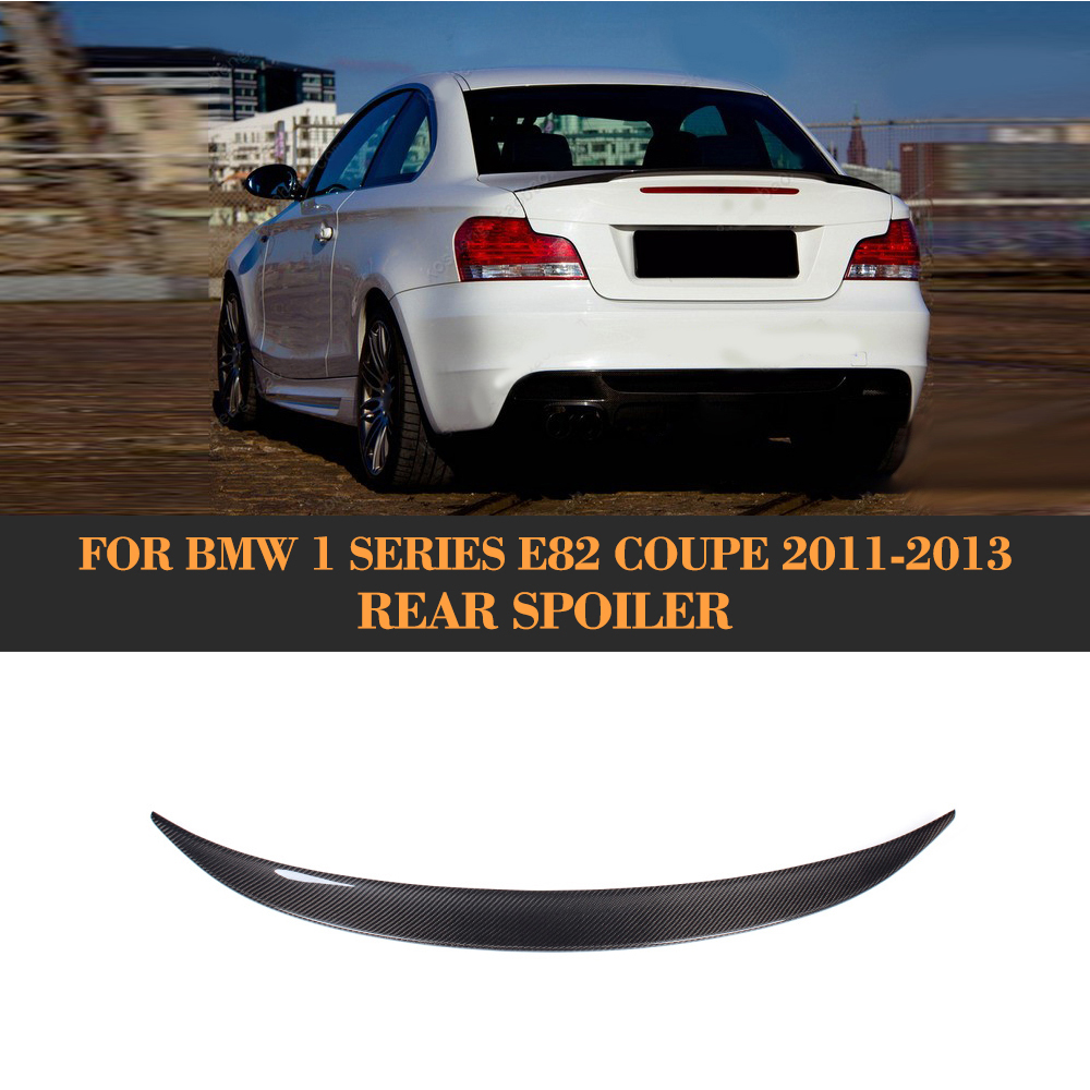 Carbon Fiber Rear Wing Spoiler Tail Trunk Lid boot lip spoiler wing For BMW E82 Coupe 08-12 M Sport Convertible 120i 128i 135i m4 style e93 carbon fiber rear wing spoiler for bmw e93 convertible 3 series 2005 2011 racing car styling tail trunk lip wing