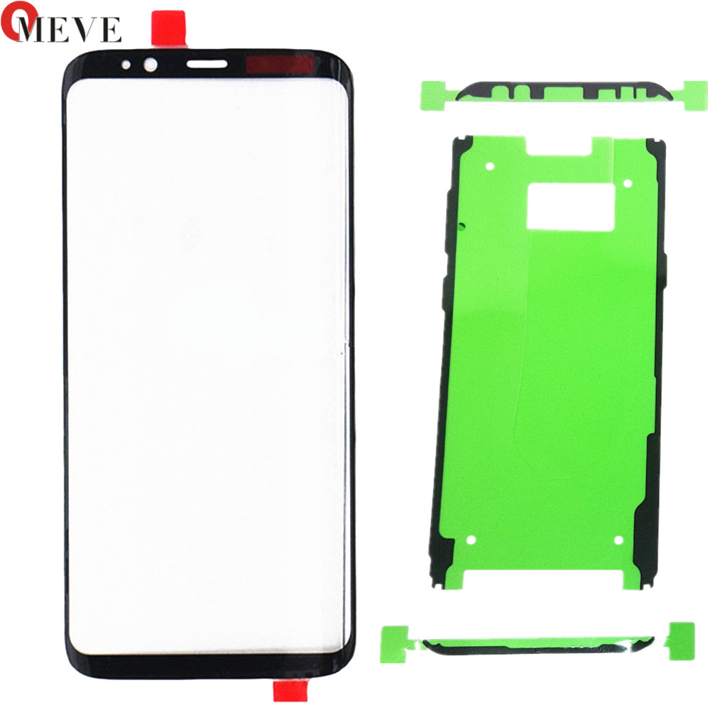 <font><b>Replacement</b></font> Front Outer <font><b>Glass</b></font> Lens Cover <font><b>Replacement</b></font> Parts For <font><b>Samsung</b></font> <font><b>Galaxy</b></font> <font><b>s8</b></font> plus G950 G955 TouchScreen Protector+adhesive image