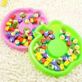 free shipping Wholesale 100pc/lotNew. Fruit rubber suit | vegetable rubber band box Apple | Strawberry 2 Eraser
