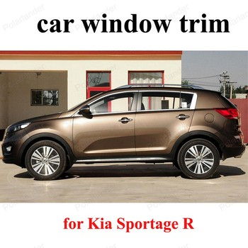 Car Styling Sill Strip For K-ia Sportage R  Stainless Steel Window Trim  Exterior Car Accessories