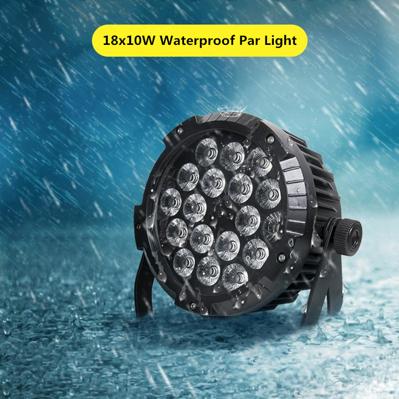 18x10W IP65 waterproof led par light RGBW 4in1 led parcan DMX512 Stage lighting 8ch led wash light for disco event party wedding