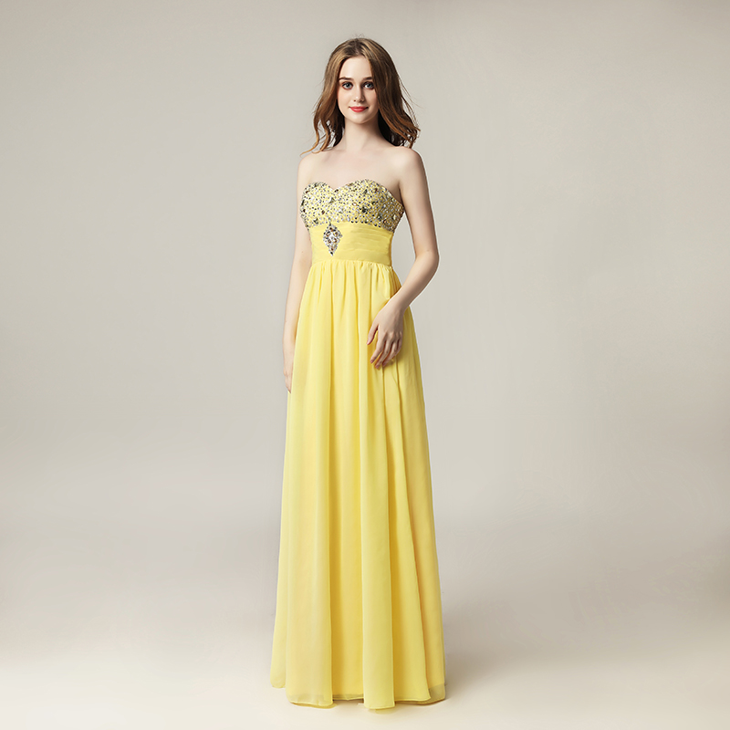 Cheap A-line Bling-Bling Prom Dresses Chiffon Beading Sequined Sweetheart Lace Up Back Formal Evening Party Gowns OS128