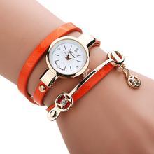 Fantastc 2016 Relogio masculino кожаный ремешок браслет часы женские Часы дамы кварцевые наручные часы Relogio 17dec 20