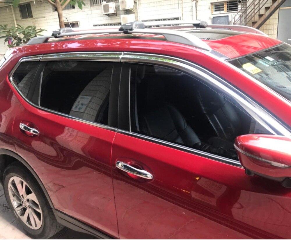 ABS Chrome en plastique fenêtre visière évent nuances soleil pluie garde voiture accessoires pour Nissan Qashqai 2015 2016 2017 2018 voiture style