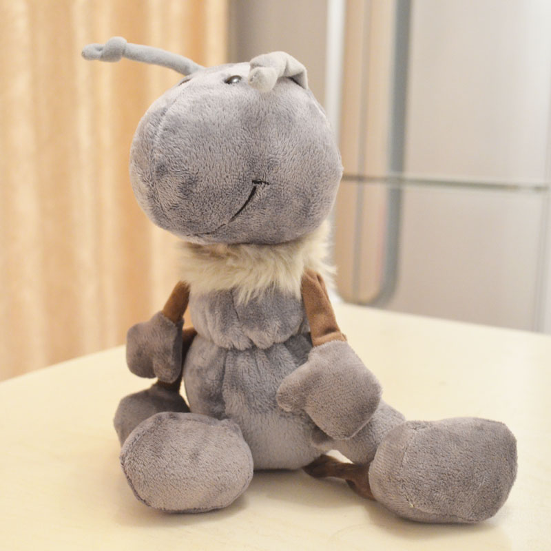 candice guo! New arrival super cute Nici small Ant plush toy soft stuffed doll birthday gift 1pc new arrival rare big original 38cm bambi deer animal cute soft stuffed plush toy doll birthday gift children gift collection