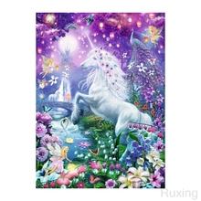 DIY Diamond Painting Dream Jungle Unicorn Cross Stitch 5D landcape diamond embroidery rhinestones Christmas gift