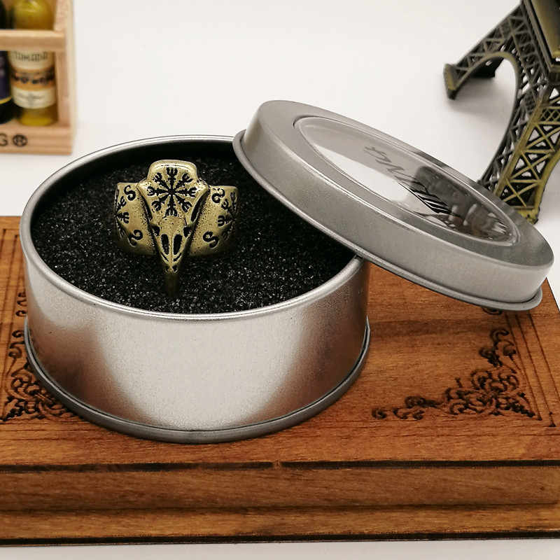 Viking Raven Tengkorak Aegishjalmur Perhiasan Pria Wanita Etnis Drop Pengiriman