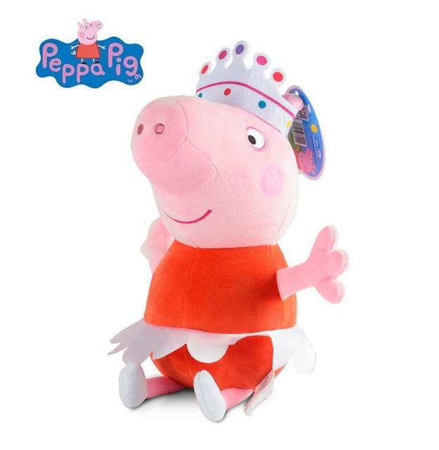 Genuine 30 cm Ballet Peppa Pig Kawaii Bicho de pelúcia Brinquedo de Pelúcia  George Porco Boneca