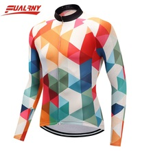 2019 NEW Team FUALRNY Long sleeve Ropa Ciclismo Cycling Jersey 100% Polyester/Autumn Bicycle Clothing/MTB Bike Clothes Man block