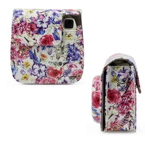 Image 4 - Oil Painting Rose PU Leather Instant Camera Shoulder Bag Protector Cover Case Pouch for Fujifilm Instax Mini 9 Case mini 8 8+