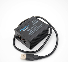 USB isolator isolation voltage 3000VDC with 4 isolated USB-A ports Supports 12Mbps full speed and 1.5Mbps low transmission