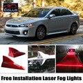 Livre Instalar Para Mitsubishi Lancer/Galant Fortis/Para Proton inspiração/Barbatana de Tubarão Energia Solar Laser Fog Lamp/Aviso luzes