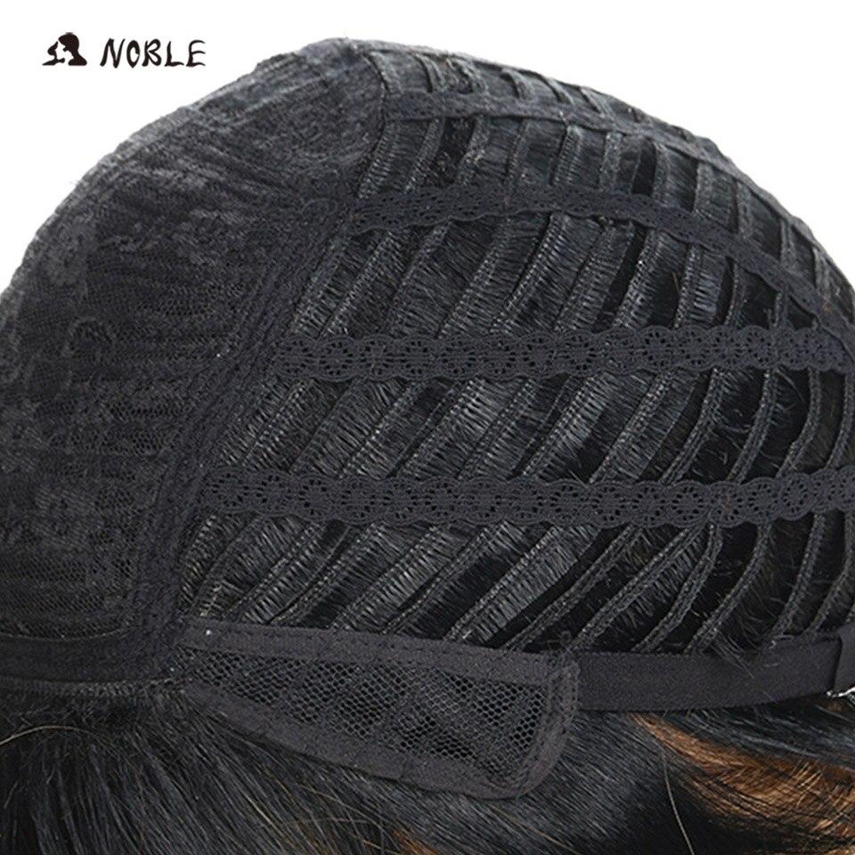Nobre perucas de cabelo sintético 10 Polegada