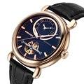 2017 BINKADA Марка Смотреть Мода Часы Skeleton Tourbillon Часы Механические Часы Автоматическая Розового Золота Наручные Часы