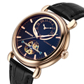 2017 BINKADA Relógio Marca de Moda Relógios Skeleton Tourbillon Relógio Mecânico Relógio Automático Rose Gold relógios de Pulso