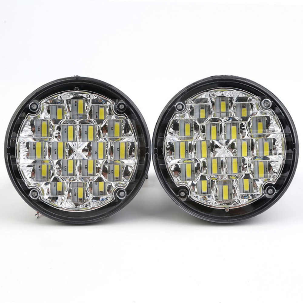 2pcs Styling Waterproof 12V 18 LEDs Round Shape Auto Car Fog Lamp Driving Night Light Ultra Brightness Low Consumption Hot Hot