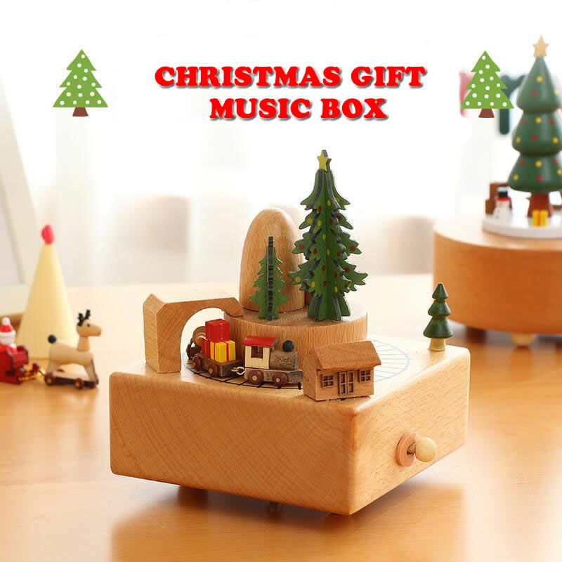 Christmas Ferris Wheel Music Box.Us 31 86 11 Off New Wooden Music Box Swivel Ferris Wheel Moving Train Music Box Toy For Kids Friends Birthday Christmas Gift Home Decoration In
