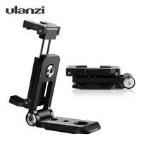 Ulanzi ST-05 plegable adaptador de montaje para trípode teléfono Clipper soporte Vertical 360 trípode Placa de liberación rápida para trípode micrófono
