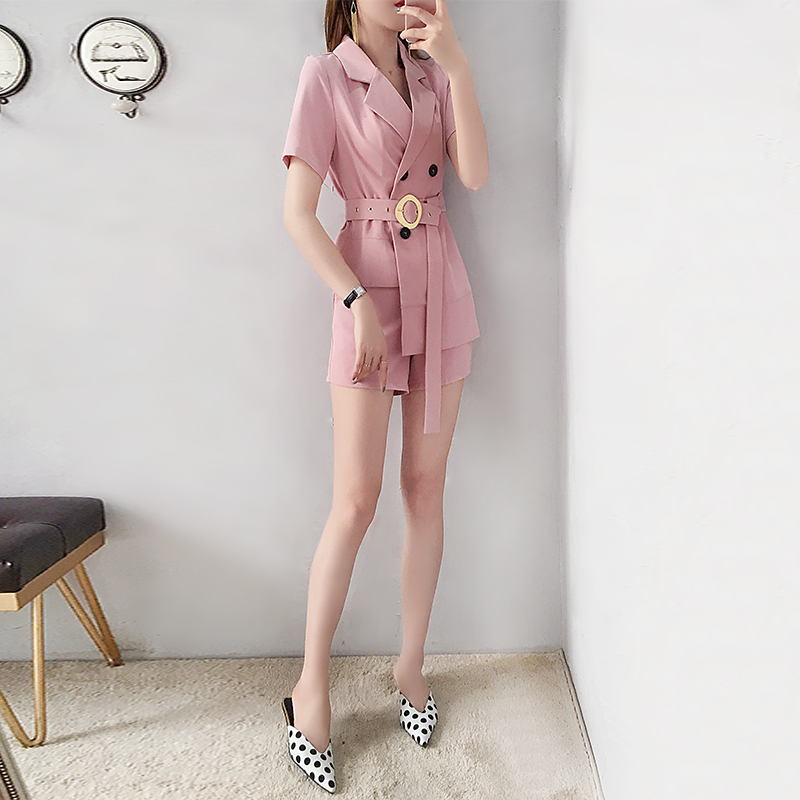 5041f936b9 Aliexpress.com : Buy Fashion women's small fragrance style suit shorts suit  female 2019 new summer fashion temperament two piece Loose Wild from  Reliable ...