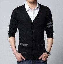 2015 mode herbst Herren pullover männlichen v-ausschnitt winter Cardigan männer Strickwaren Pullover Dünne Beiläufige Pullover strickjacke marke masculino