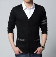 2015 Fashion Autumn Mens Sweaters Male V Neck Winter Cardigan Men Knitwear Sweater Slim Casual Sweater