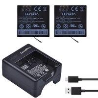 2pcs Replacement 1400mAh AZ16 1 Battery For Xiaomi II 2 4K USB Dual Charger For XiaoYi