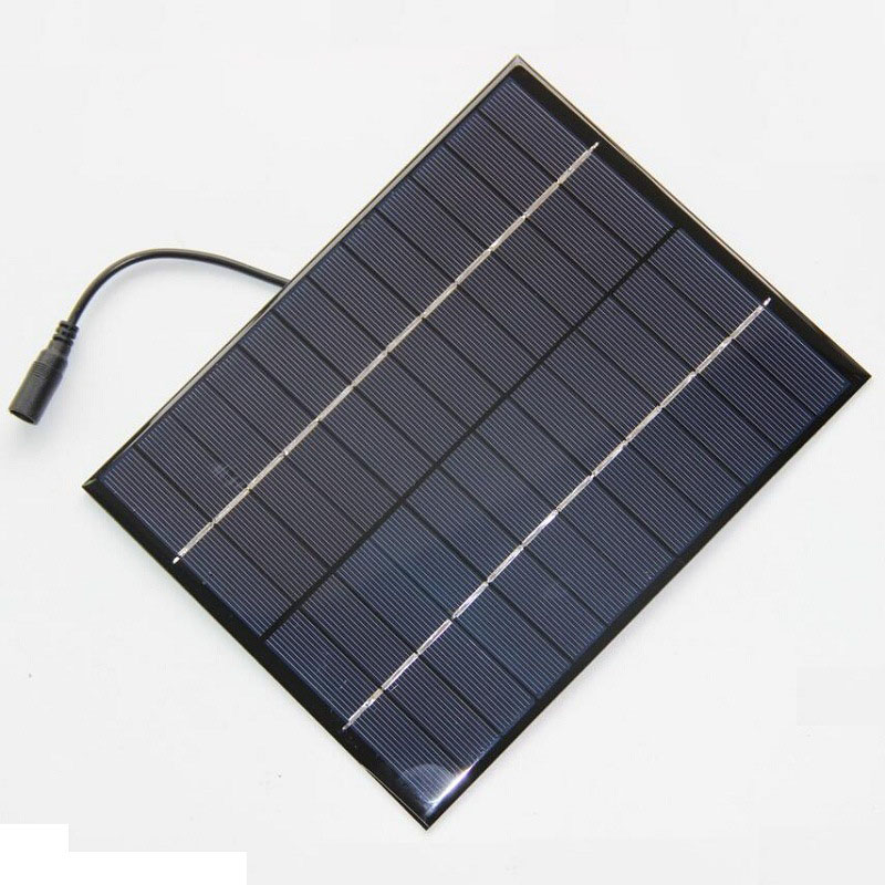 5.2Watt 12V solar panel drop glue DIY poly module high quality rechargeable solar panel with 3m wire and DC5521 plug(M)