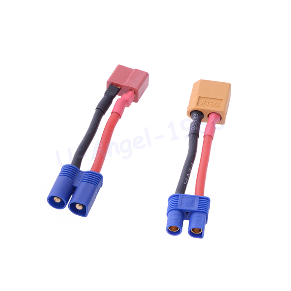 1pcs T Female Plug To EC3 Male  / XT60 Female To EC3 Female Connector Balance Charge Cable For RC Lipo Battery