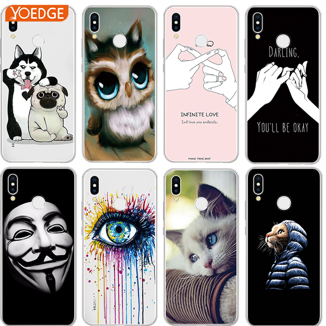 Dog Cat Fundas For Huawei P8 P9 P10 Plus P20 Mate S 10 Lite For Honor 7A Pro Mini Y6 2017 Y7 G8 P Smart Nexus 6p nova 3i Case