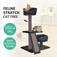 USA Domestic Delivery H 52Cat Tree Scratching Post Activity Center Cat Tree Condo Gym Cat Furniture Kitten Play Toy Cat Product