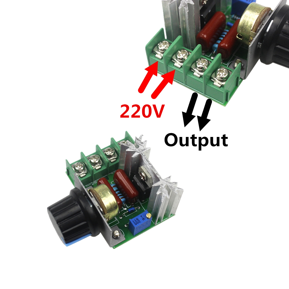 Ac 220v 2000w Scr Voltage Regulator Dimming Dimmers Speed Controller Herrold Triac Controllers High Power Thyristor Dimmer Electronic For Temperature Control Free Shipping