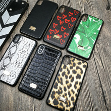 Italy Luxury case for iphone X XS MAX XR 8 7 6 6S plus hard plastic phone cover leather Business Snake Crocodile skin fundas