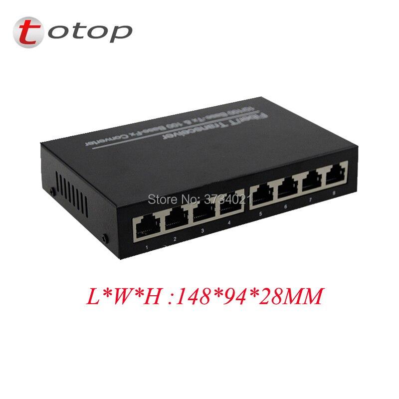 10/100 M 1 port RJ45 fibre 8, double fibre monomode 1310nm, SC, 0 ~ 20 KM, AC 100 V-240 V, DC 5 V 1A, alimentation externe