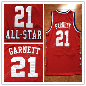 0b753fb1080a 21 Kevin Garnett 2003 All Star MVP Basketball Jersey Stitched S-XXL