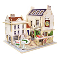 New Creative Model Building Kits 3D Jigsaw Puzzle Wooden Toys Children's Educational Wooden Chalets DIY Puzzles Toy Gift FCI#