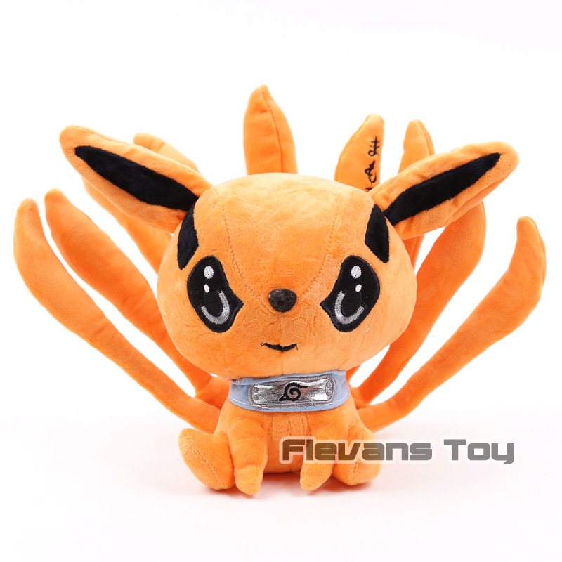 Japanischen Anime Spielzeug 19 cm Naruto Uzumaki Kyuubi Kurama Neun-geschichten Fuchs Dämon Plüsch Weichen Tier Stofftier Geschenk