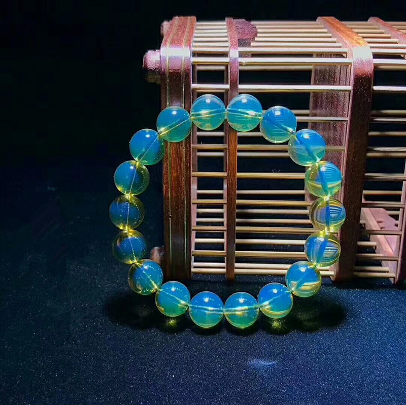 Wholesale 2A+ Natural Mexican Blue Amber Bracelet 12mm+ Beads Certificated Amber Supplier Prayer For Men&Women Fine Jewelry pure handmade string beads beads bracelets tassels roasted blue flower accessories amber beaded bracelet factory wholesale